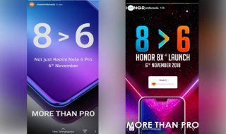 Xiaomi Mi 8, Honor 8X, Xiaomi Honor adu gontok