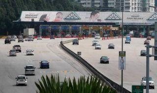 jalan tol, malaysia, macet,