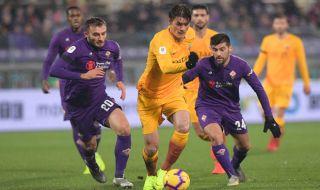 Coppa Italia 2018-2019, Fiorentina, AS Roma, Fiorentina 7-1 AS Roma, As roma kalah 7-1