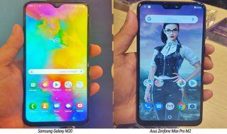 Asus Zenfone Max Pro M2, Samsung Galaxy M20, Asus Lawan Samsung