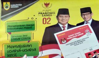 Bupati Sragen Minta Warga Copot Kalender Bergambar Prabowo-Sandi