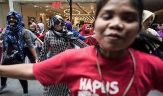 buruh migran, hongkong, victoria park, teror,