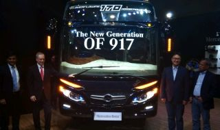 Bus Premium Mercedes-Benz OF 917 Mengaspal di Indonesia