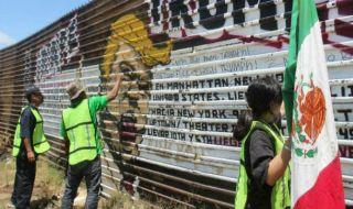 tembok perbatasan, meksiko, as, trump,
