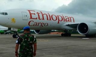 Pesawat Cargo Ethiopian Air