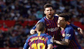 La Liga 2018-2019, Liga spanyol, Barcelona, Sevilla, Sevilla 2-4 Barcelona, Messi hattrick,