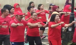 Hadiri Senam Sehat, Wali Kota Solo Ajak Warga Tidak Golput