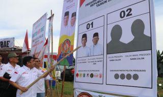 Hari Pertama Kampanye Terbuka, Rumker Gelar 'Banten 01 Bae'