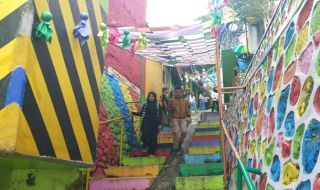 kampung jodipan wisata murah kampung warna-warni