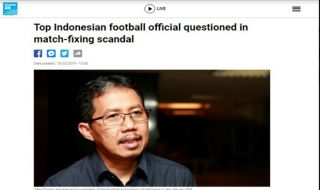 PSSI, Joko Driyono, Match fixing