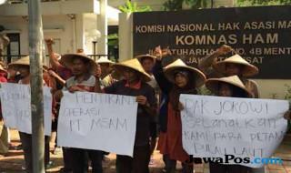 Demo di depan Komnas Ham