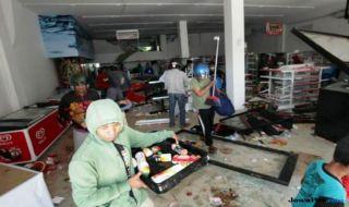 pelaku penjarahan palu, berkas penjarahan palu, penjarahan gempa palu