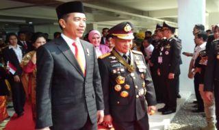 Presiden Joko Widodo (Jokowi) dan Kapolri Jendral Tito Karnavian.