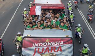 Timnas U22, Timnas U22 Indonesia, Piala AFF U22 2019, Istana Negara, Pawai Juara, Presiden Joko Widodo