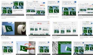 bendera pakistan, google, tisu toilet,