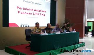 Konferensi pers Pertamina soal kelangkaan gas elpiji