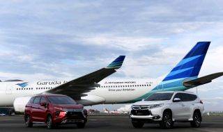 Pesawat Garuda Rute Jakarta–Nagoya Berselimut Livery Mitsubishi Motors