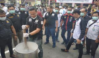 Polrestabes Medan Musnahkan Sabu-sabu dan Ganja