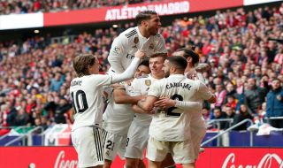 La Liga 2018-2019, Liga Spanyol, Atletico Madrid, Real Madrid, Atletico Madrid 1-3 Real Madrid, Derby Madrid, Gareth Bale