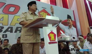 Ketua Umum DPP Gerindra Prabowo Subianto
