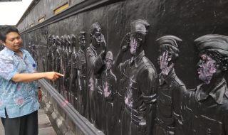 Relief Monumen Serangan Umum 1 Maret Jadi Sasaran Vandalisme