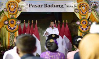 Resmikan Pasar Badung, Jokowi Kagumi Arsitekturnya