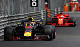 Daniel Ricciardo, Red Bull, F1 GP Monaco, Sebastian Vettel, Lewis Hamilton,