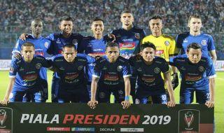 Arema menang 6-1, Arema runner up, Piala presiden 2019, Arema FC, persita tangerang, Arema 6-1 persita