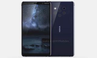 Nokia 9, Nokia 9 lima kamera, Nokia 9 meluncur