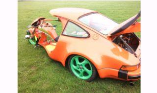 Unik! Modifikasi Ekstrem Motor Roda Tiga Berbadan Porsche 911