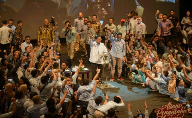 Di Hadapan Ribuan Pengusaha, Prabowo: Kami Pro Bisnis