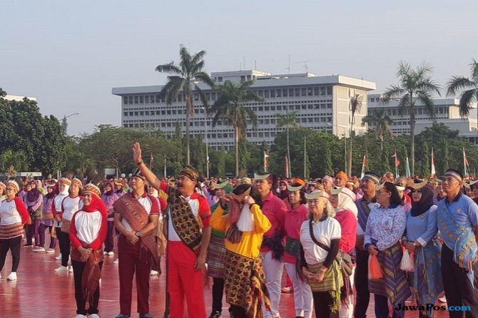 346.829 Orang Serentak Menari Gemu Famire, TNI Pecahkan Rekor MURI