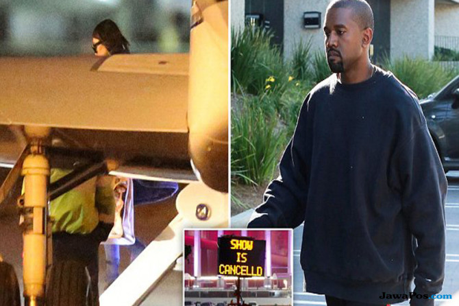 Stress Berat, Kanye West Diborgol Polisi Sebelum Masuk RS