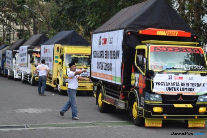 ACT Jogja Kirim 7 Truk Kemanusiaan ke Lombok