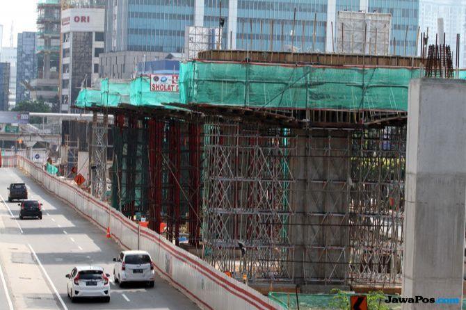 Ada Pekerjaan LRT, Simpang Pancoran Ditutup Sementara