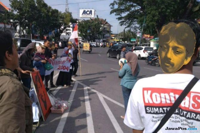Aksi Melawan Lupa 14 Tahun Kematian Munir di Titik Nol Medan