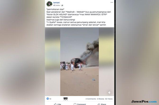 Angkut Jamaah Haji, Sopir Bus Asal Indonesia Meninggal Usai Kecelakaan