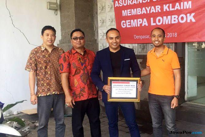 Asuransi Sinar Mas Bayar Klaim Akibat Gempa Lombok di Bali