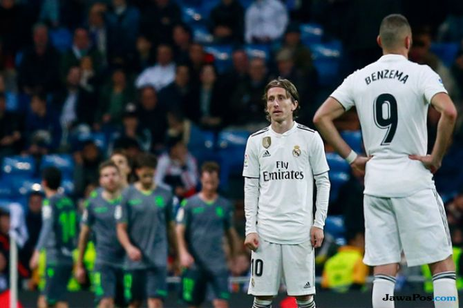 La Liga 2018-2019, Real Madrid, Real sociedad, Real Madrid 0-2 Real Sociedad, Real Madrid kalah lagi, Liga Spanyol