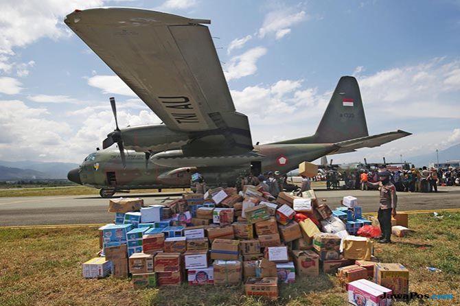 Bantuan Asing Capai Rp 220 M, Ada 6 Pesawat untuk Distribusi Logistik