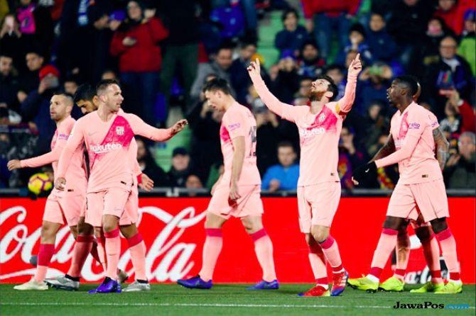 La Liga 2018-2019, Liga Spanyol, Getafe, Barcelona, Getafe 1-2 Barcelona