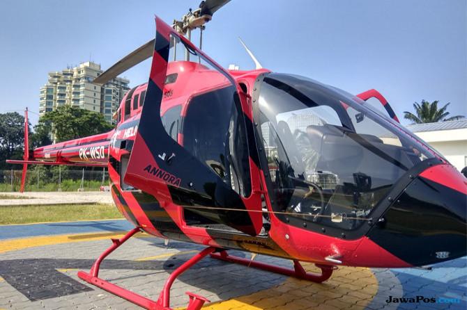 Bergaya ala Sultan, Menjajal Asyiknya Mudik Naik Helikopter