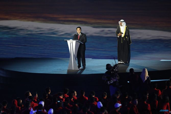 Erick Thohir, INASGOC, Asian Games 2018, Opening Ceremony, Indonesia