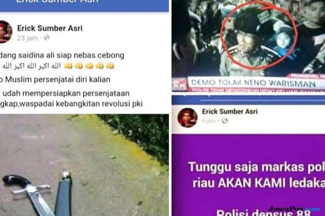Buntut Penolakan Neno, Polda Riau Diancam Akan Diledakkan