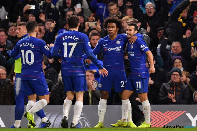 Premier league 2018-2019, Liga Inggris, Chelsea, Newcastle United, Chelsea 2-1 Newcastle United