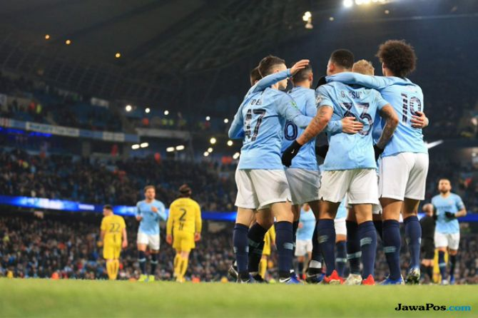 Carabao Cup 2018-2019, Piala Liga Inggris, Manchester City, Burton Albio, Manchester city menang 9-0, Manchester city 9-0 burton albion