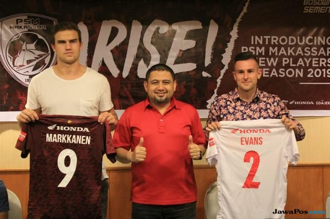 Eero Markkanen, Aaron Evans, PSM Makassar, Liga 1 2019