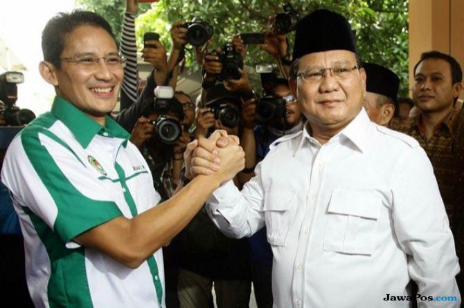 Sandiaga dan Prabowo