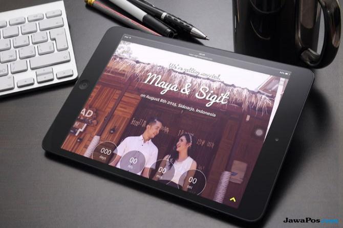 Ide respsi pernikahan, undangan online