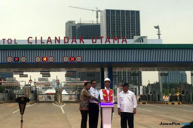 Ditemani Anies, Presiden Jokowi Resmikan Jalan Tol Ruas Depok-Antasari